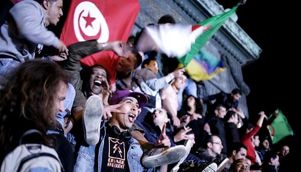 drapeaux algeriens bastille hollande