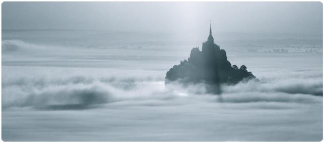 Mont Saint Michel brume