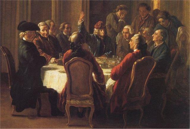 Un dîner de philosophes, Jean Huber