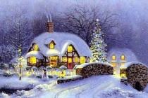 maison neige noël