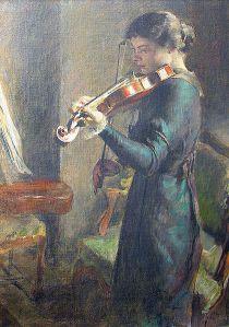 La Violoniste par François Guiguet 1914