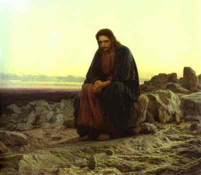 Ivan Kramskoy Le Christ au Desert 1872