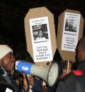 Manifestation sans-papiers