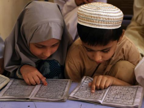 Enfants lisent Coran