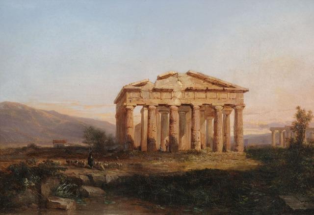Jules Coignet - Paestum, ruines - 1860
