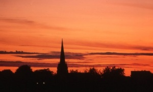 Eglise crepuscule