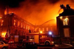 Incendie chateau Luneville