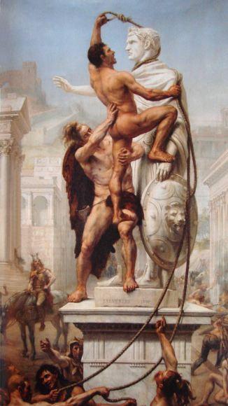 Le sac de Rome par les barbares en 410, Joseph-Noël Sylvestre, 1890.