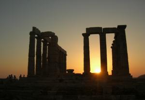temple de Poseidon Crepuscule