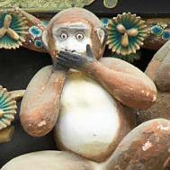 Trois singes - dire