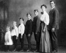 Famille vieux portrait
